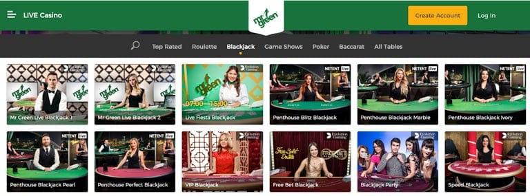 Live Casino MrGreen.com